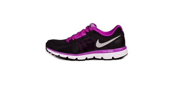 Dámske čierno-ružové běžecké tenisky Nike