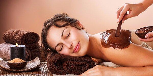 Čokoládové ošetrenie pleti s masážou
