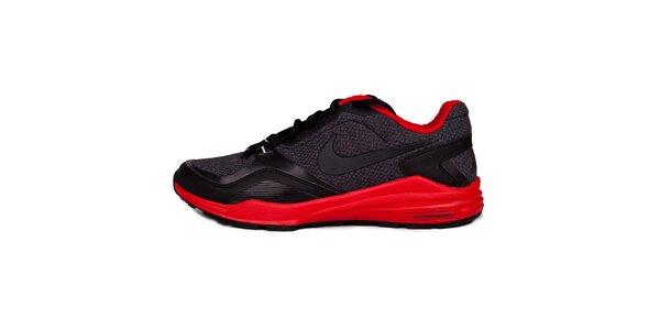 Pánske červeno-čierne běžecké tenisky Nike