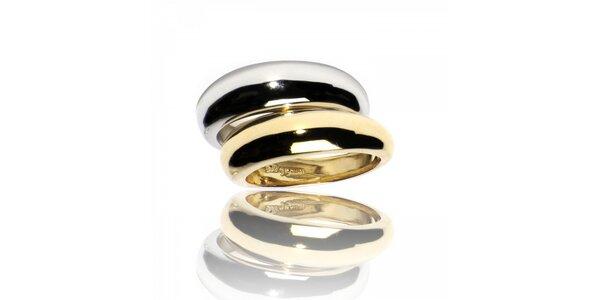 Zlatostrieborný prsteň Bague a Dames