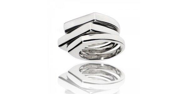 Dámsky vrstvený strieborný prsteň Bague a Dames