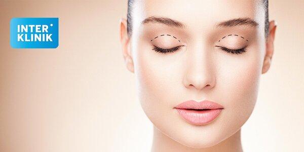 Profesionálna operácia horných očných viečok aj s pooperačnou starostlivosťou