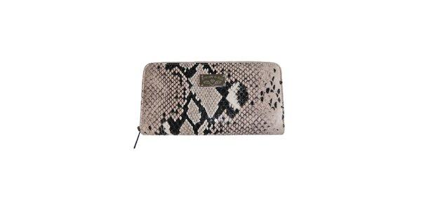 Dámska béžová kabelka so vzorom hadej kože Princess Cult