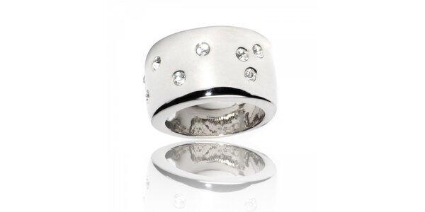 Dámsky strieborný prsteň Bague a Dames s malými kryštálmi