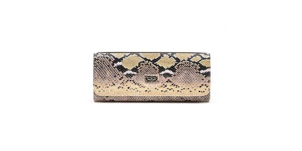 Dámske ružovo-béžové kabelka s hadím vzorom Princess Cult