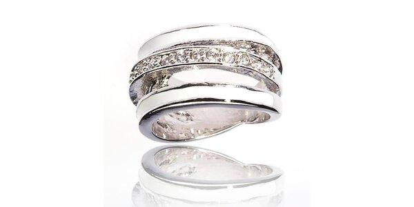 Dámsky strieborný prsteň Bague a Dames so zirkónmi a bielymi perleťovými…