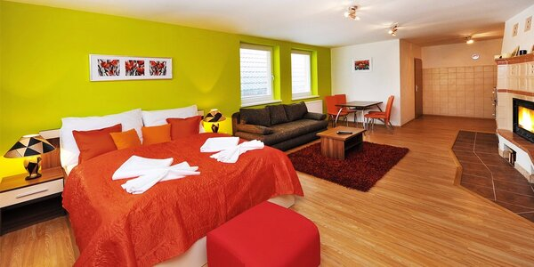 Pobyt pre 2 až 6 osôb v komfortných apartmánoch so saunou v Tatranskej Lomnici