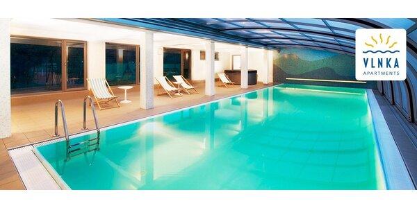 Dovolenka ako pri mori v špičkových apartmánoch Vlnka s neobmedzeným bazénom