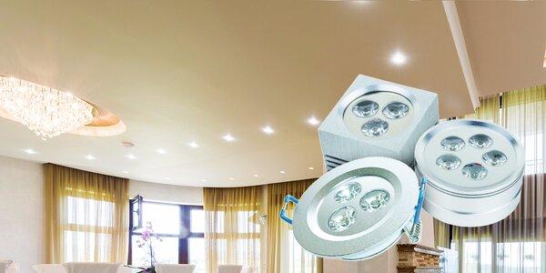 Chrómové prisadené či zapustené LED svietidlá