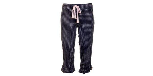 8d94d8bbd89d Dámske tmavo modré pyžamové capri nohavice Tom Tailor s bielymi bodkami