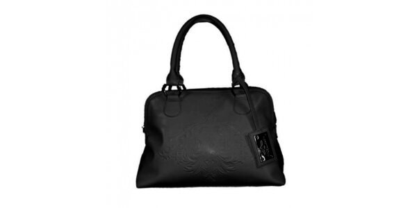 Dámska čierna kabelka s plastickým vzorom Princess Cult