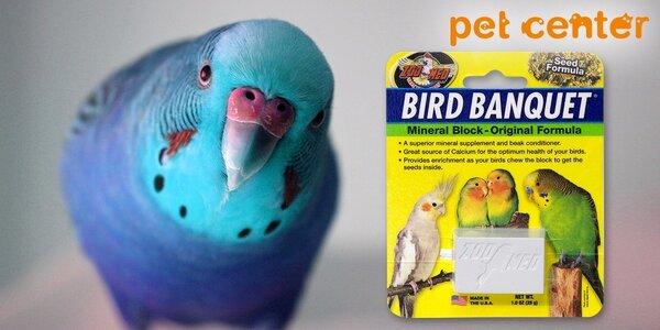 Vápniková desiata: 2 minerálne bloky pre vtáky