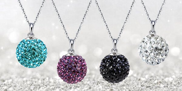 Elegantné náhrdelníky z chirurgickej ocele - guľôčky Discoballs