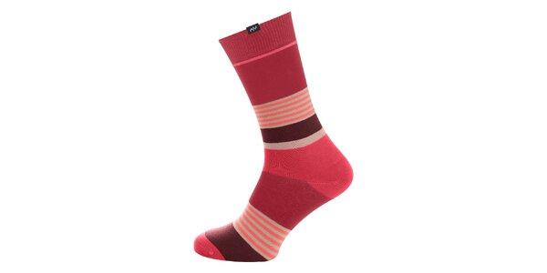 Dámske ružové prúžkované ponožky Minga Berlin - 3 páry