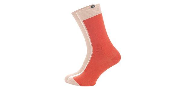 Dámske púdrovo-oranžové ponožky Minga Berlin - 3 páry