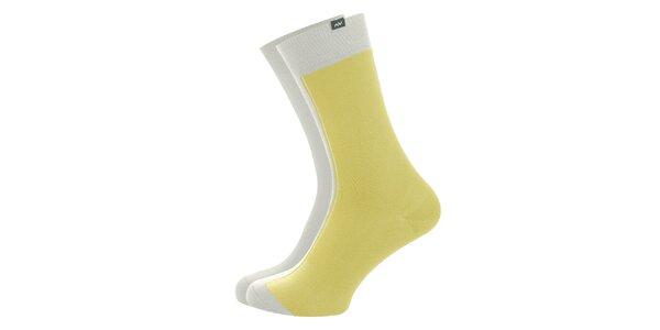 Dámske žlto-biele ponožky Minga Berlin - 3 páry
