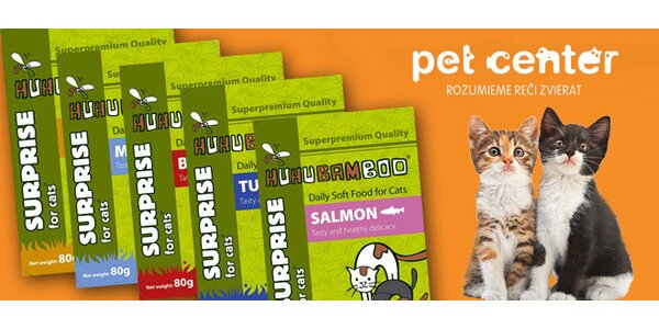 Kvalitné kapsičky Huhubamboo pre mačky