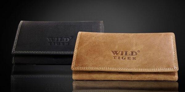 Luxusná dámska peňaženka z pravej kože Wild Tiger