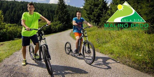 Lanovka a adrenalínová jazda na kolobežkách z Malina Brda