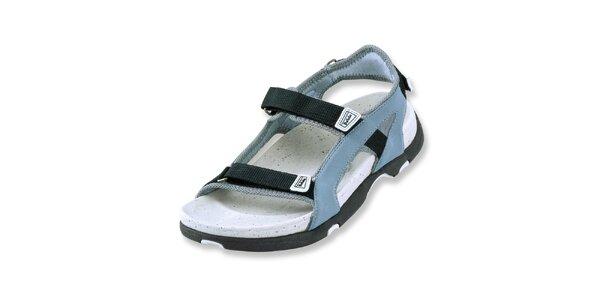 Dámske šedo-modré textilné sandálky Betula