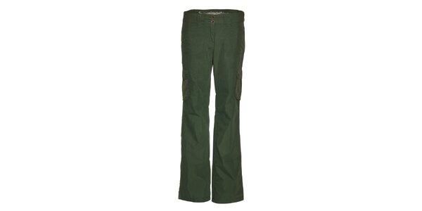 Dámske tmavo zelené športové nohavice Alpine Pro
