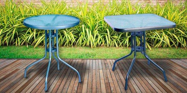 Záhradné stoly s kovovým rámom