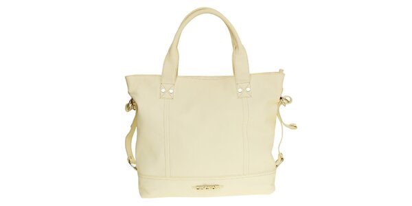 Dámska biela kabelka s remienkami na bokoch Café Noir