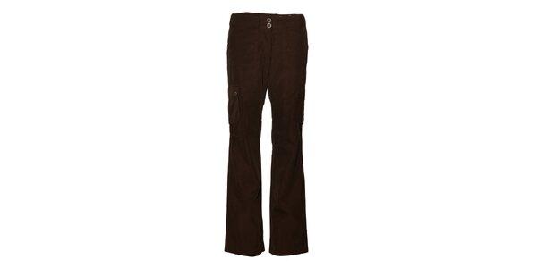 Dámske tmavo hnedé športové nohavice Alpine Pro