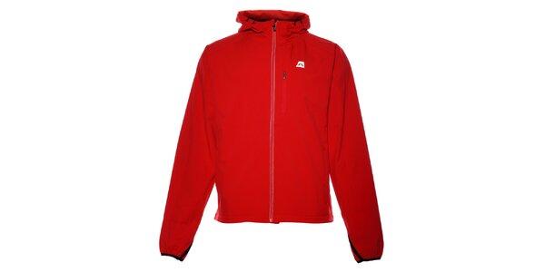 Pánska červená softshellová bunda Alpine Pro