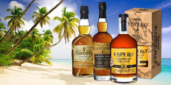 Ochutnajte karibské rumy Espero, Appleton a Plantation