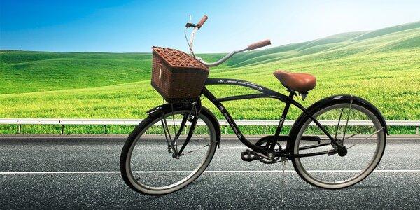 Retro bicykel s košíčkom