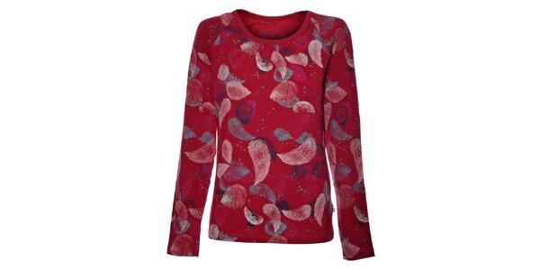 Dámske ružové tričko Alpine Pro s potlačou