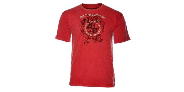 Pánske svetlo červené tričko Alpine pro s potlačou