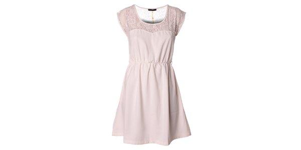 Dámske biele šaty s čipkou Daphnea