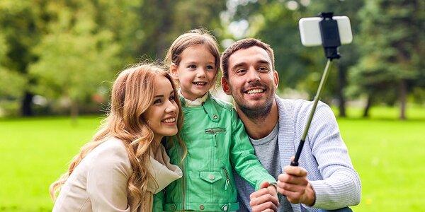 Profesionálna teleskopická selfie tyč s bluetooth ovládaním!