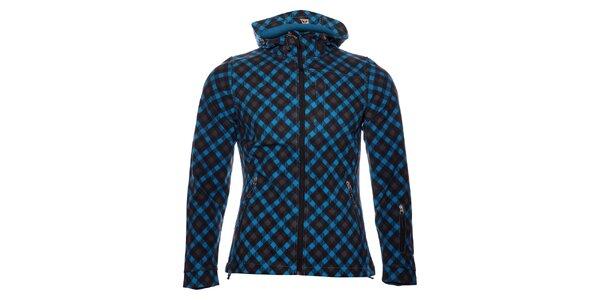 Dámska tmavo modrá softshellová bunda s potlačou