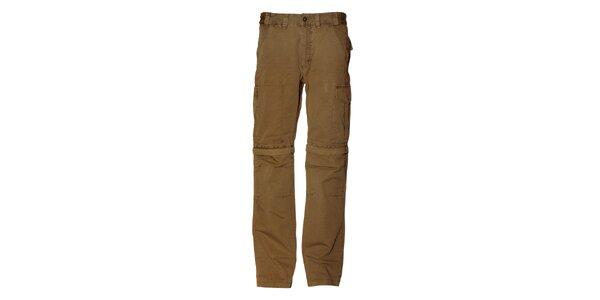 Pánske svetlo hnedé bavlnené nohavice Alpine Pro