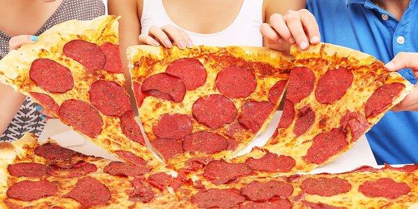 Pizza MAXI (72 cm) alebo pizza XL (40 cm). Najväčšia pizza v Košiciach!