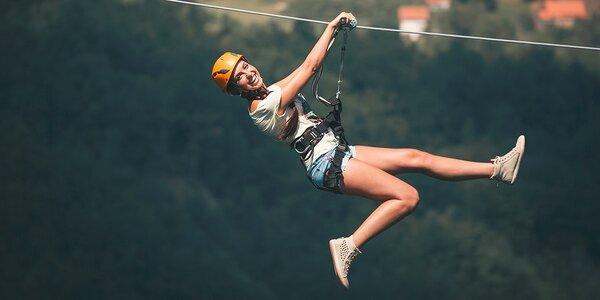 2x Zjazd na kladke Zip Wire – najdlhší na Slovensku!