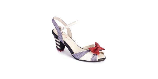 Dámske bielo-strieborné sandálky Lola Ramona
