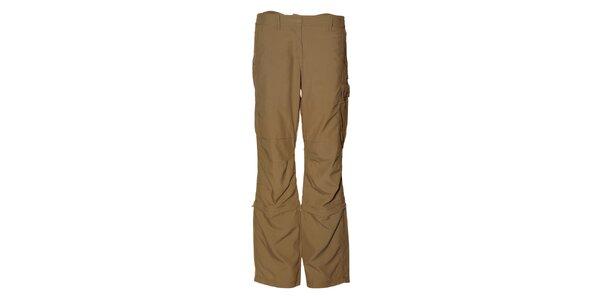 Dámske béžové športové nohavice Alpine Pro