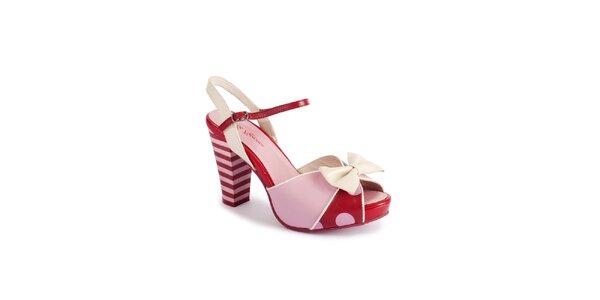 Dámske ružovo-červené sandálky Lola Ramona