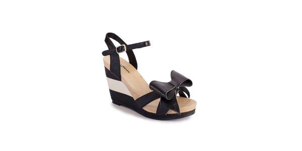 Dámske čierne sandálky Lola Ramona na vysokom podpätku