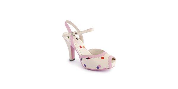 Dámske svetlo ružové sandálky Lola Ramona s farebnými bokami