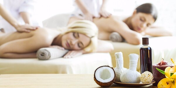Relaxačná masáž s BIO kokosovým alebo ľubovníkovým olejom