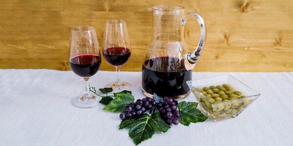 Lahodné vínko s arašidmi či olivami