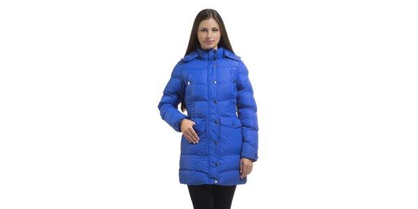 Dámska žiarivo modrá prešívaná páperová bunda Bleifrei