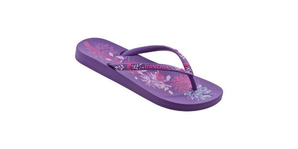 Dámske fialovo-ružové žabky Ipanema