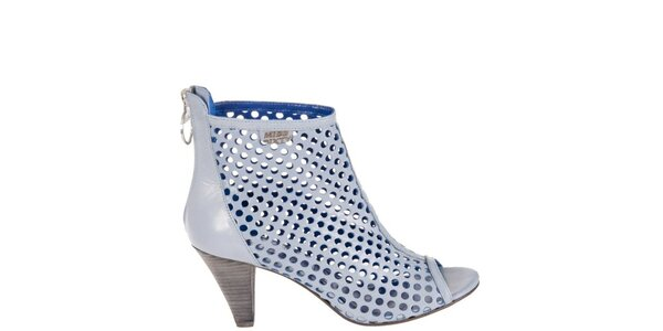 Dámske svetlo modré perforované sandálky Miss Sixty