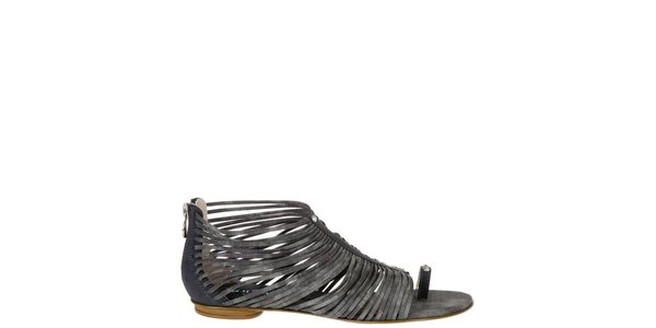 Dámske antracitové sandálky Miss Sixty